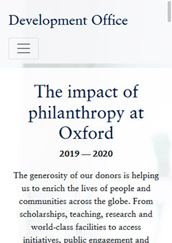 Preview of Philanthropy Report 2019-20 microsite