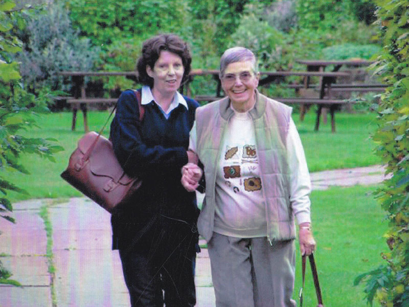 Jean Williams (right) with her cousin Jan Winstanley. Photo by Alan Winstanley