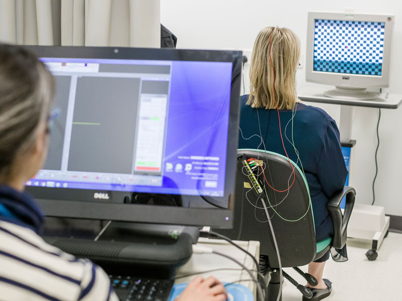 Research being conducted at the John Radcliffe Hospital. Photo by Retina UK