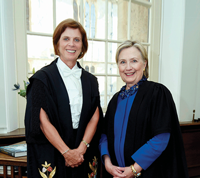 Hillary Clinton and Vice Chancellor Louise Richardson