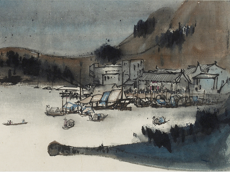 Lui Shou-Kwan, 'Cheung Chau' (detail) © Ashmolean Museum, University of Oxford. Reproduced with kind permission of the artists' estate