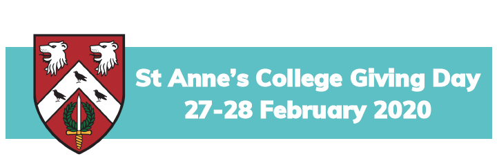 St Anne's College Giving Day 27-28 February 2020