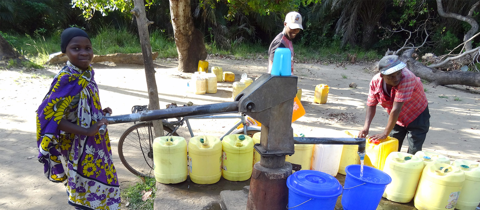 A smart handpump in use in Kenya. Photo by Tim Foster