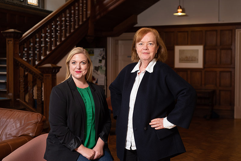 Professor Jo Boyden with Senior Education Researcher Dr Rachel Outhred. Photo by John Cairns
