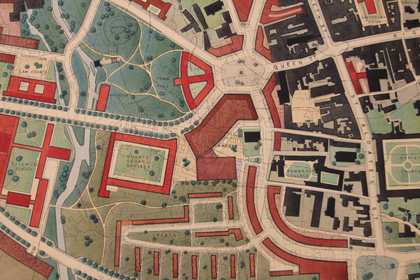 Thomas Sharp map of Oxford