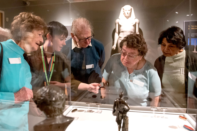 Participants of the Meet Me at the Ashmolean programme. Photo by John Cairns