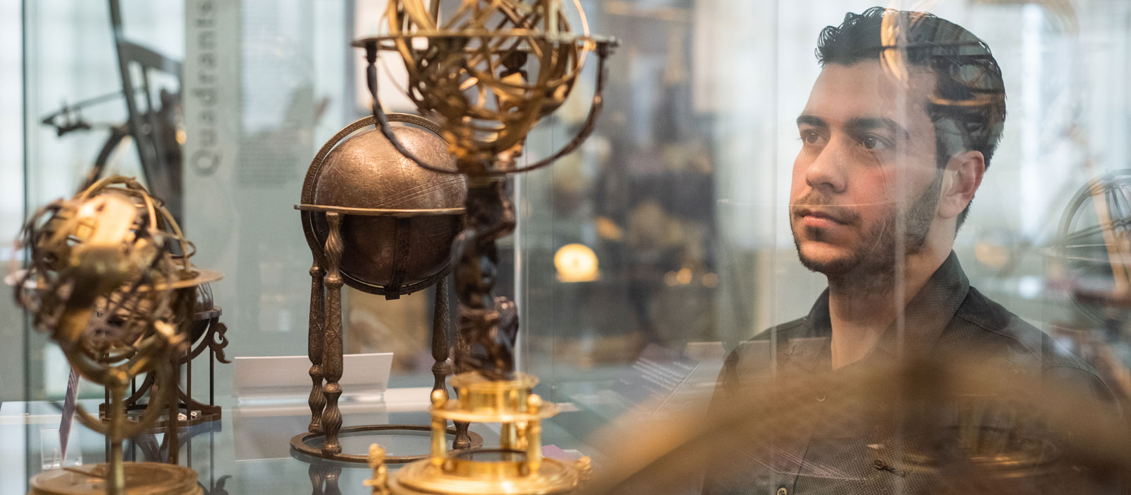Hussein Ahmed at the History of Science Museum. Photo by John Cairns