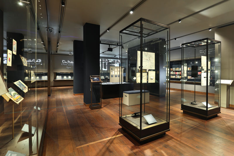 Inside the Tolkien: Maker of Middle-earth exhibition. Photo by Ian Wallman / Bodleian Libraries