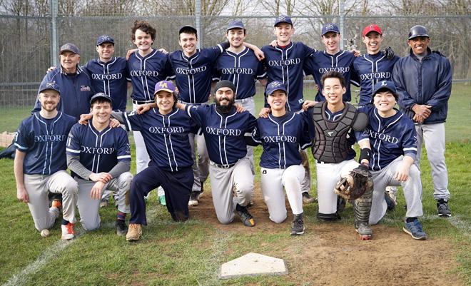 Photo of the Oxford University Baseball team